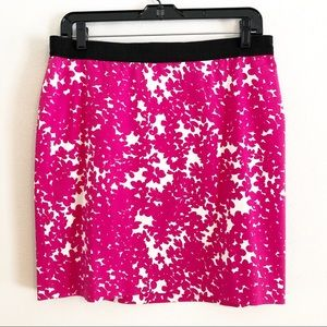 Ann Taylor pink floral skirt. Size 8 NWT